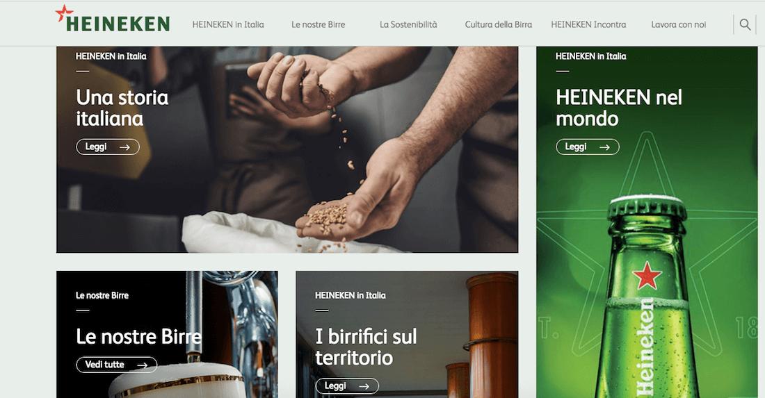 Studia e fai ricerca sull'esperienza utente prima di disegnare un sito web (esempio: Heineken)