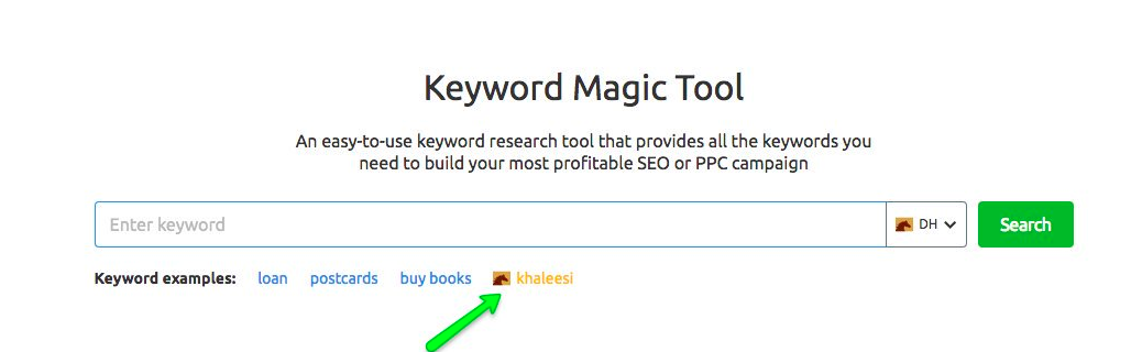 Newsjacking - Dothraki Keyword magic tool