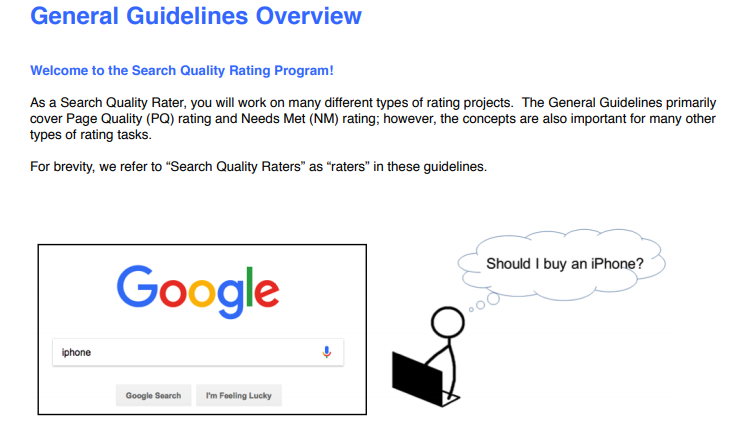 Google guideline overview