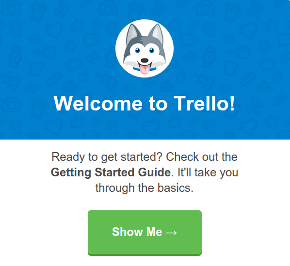 Trello welcome mailer example