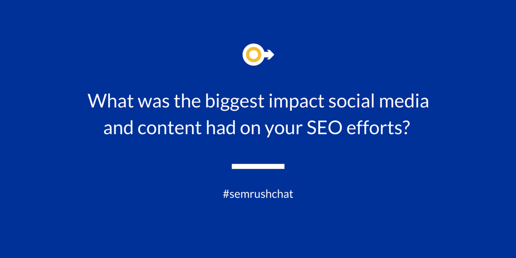 Content and social media impact on SEO