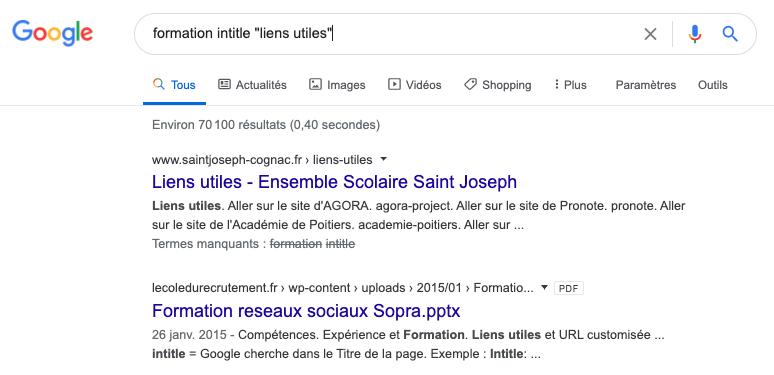 utiliser les opérateur de recherche de Google pour trouver des opportunités de backlinks
