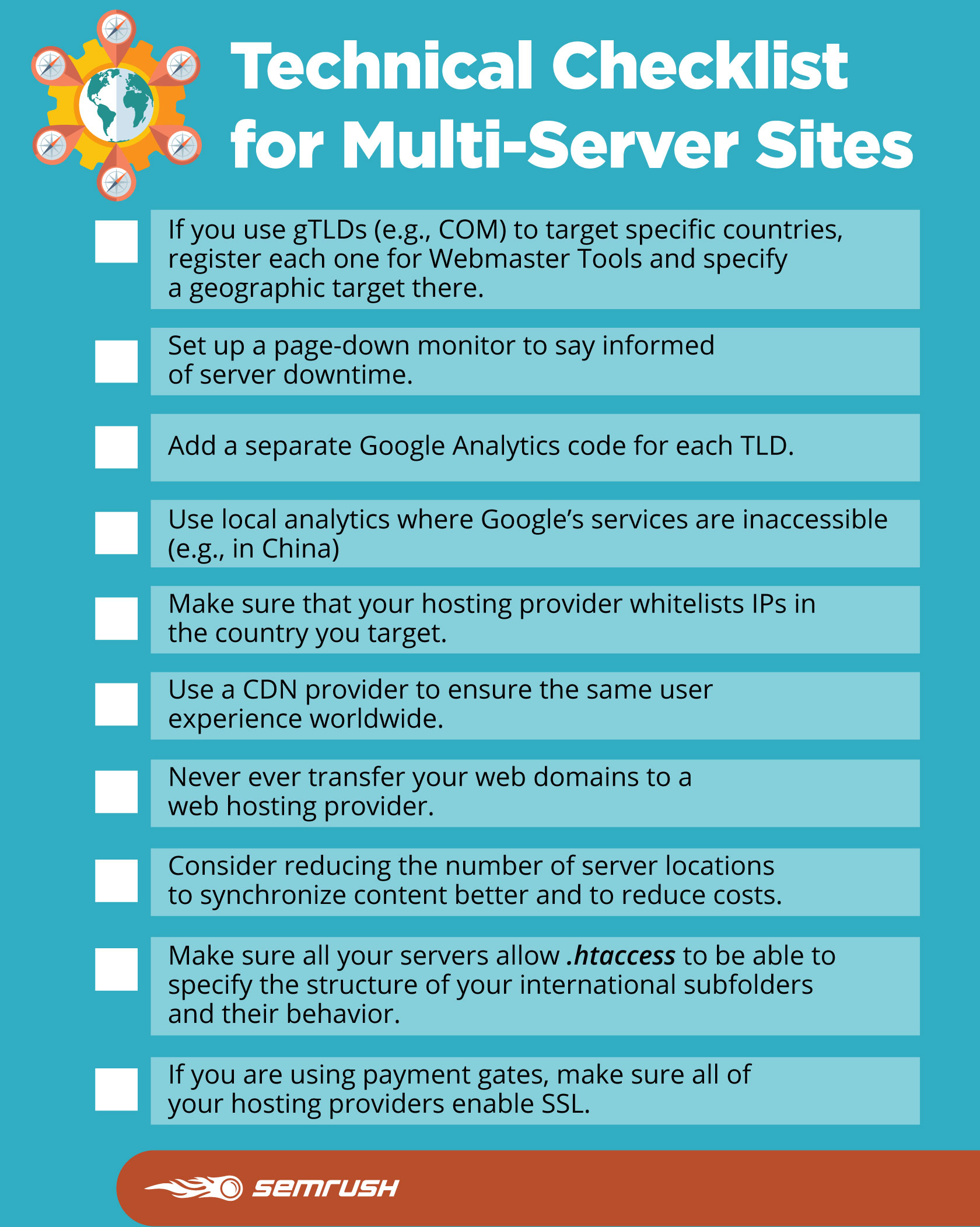 Technical Checklist for Multi-Server Sites