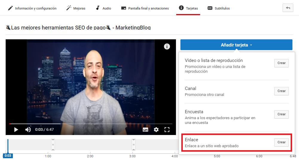 Cómo hacer un call to action para video contenidos - Enlace