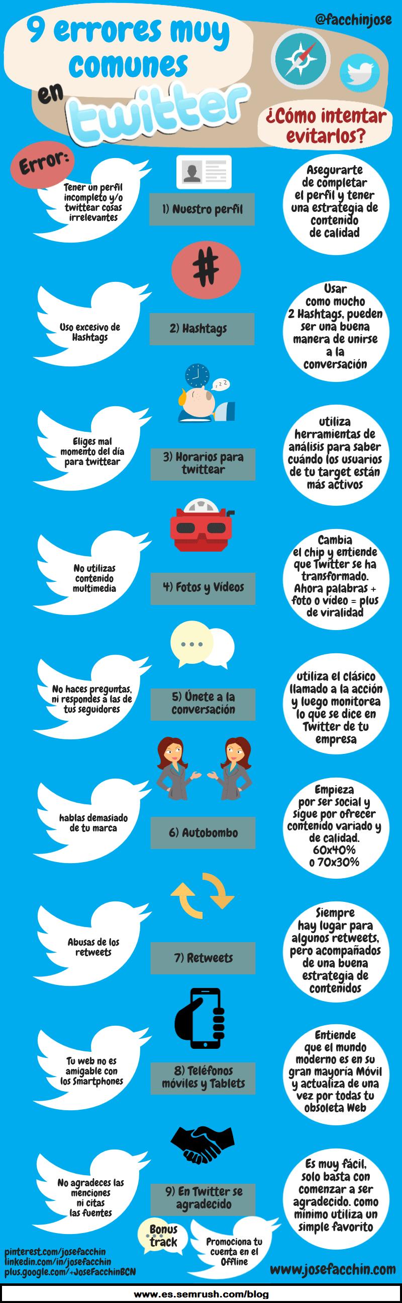 Errores a evitar en tu nueva cuenta de Twitter