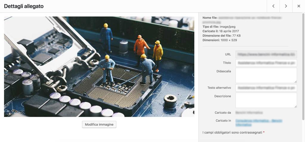 Ottimizzazione SEO immagini Wordpress