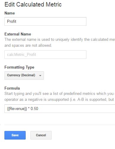 Calculating Revenue in Google Analytics