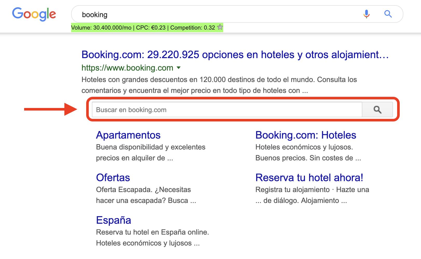 Datos estructurados - Booking