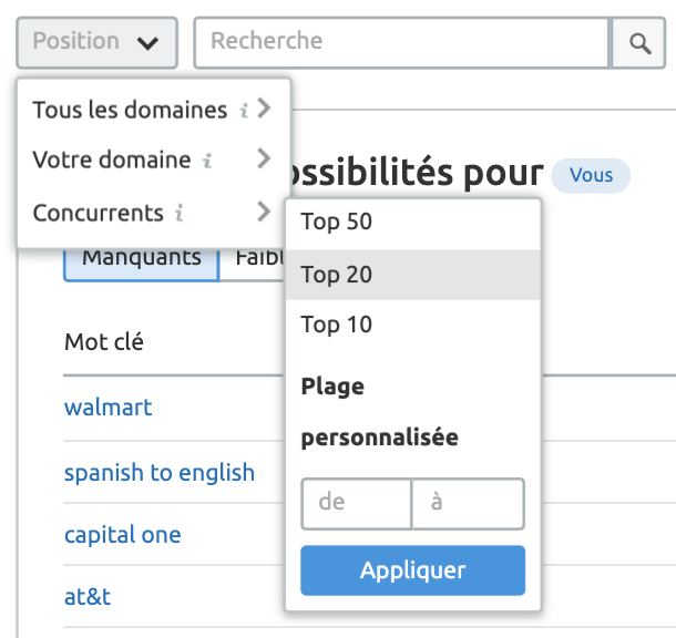 Analyse concurrentielle : Mots clés et Backlinks. Image 8