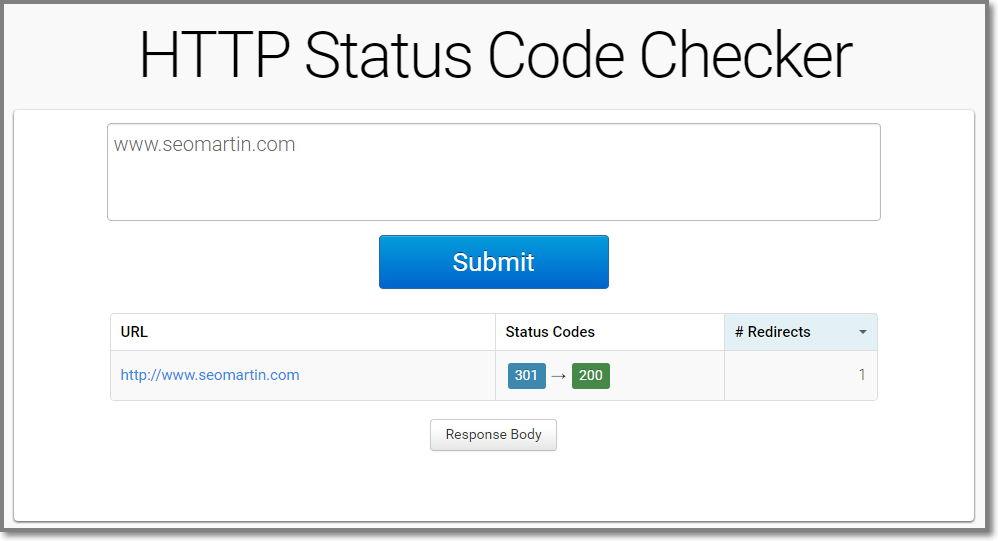 httpstatus verifica código de retorno do servidor