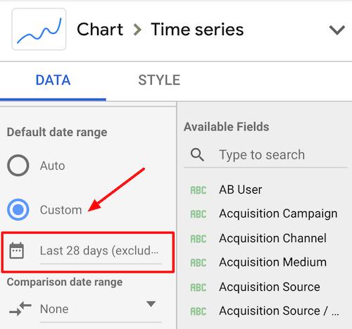come modificare le date in Google data studio