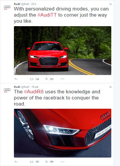 Cómo crear un hashtag-Twitter Audi