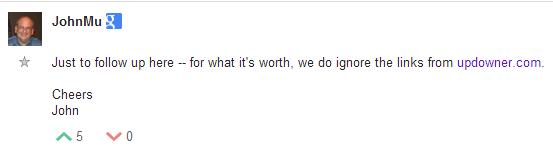 Google Webmaster Forum comment: John Mu