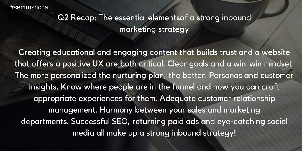 The essentials of a strong inbound marketing strategy