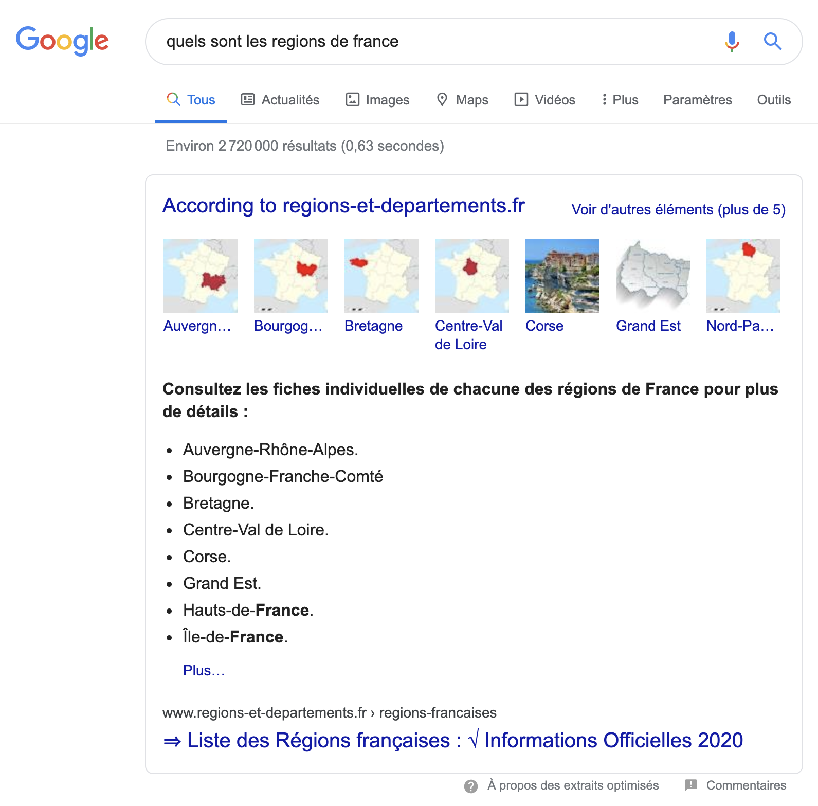 liste Google