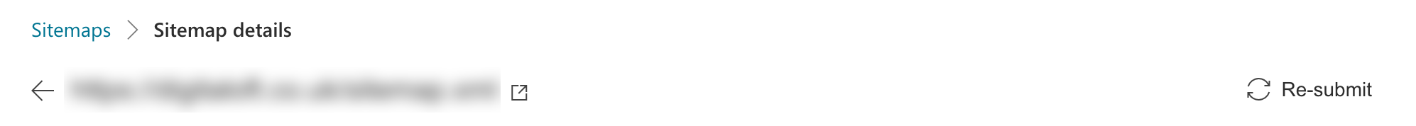 rRsubmit button in Bing sitemap
