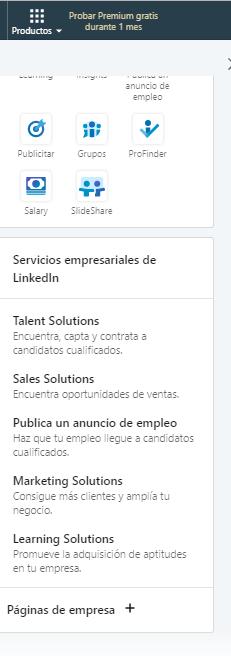 Páginas de empresas en LinkedIn - Creación paso 1