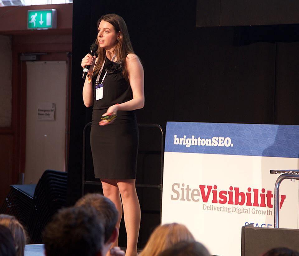 Olga Andrienko parla a BrightonSEO