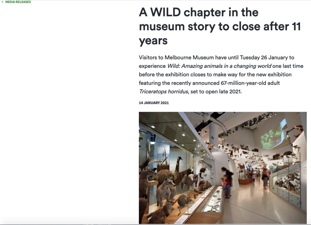 melbourne museum press release