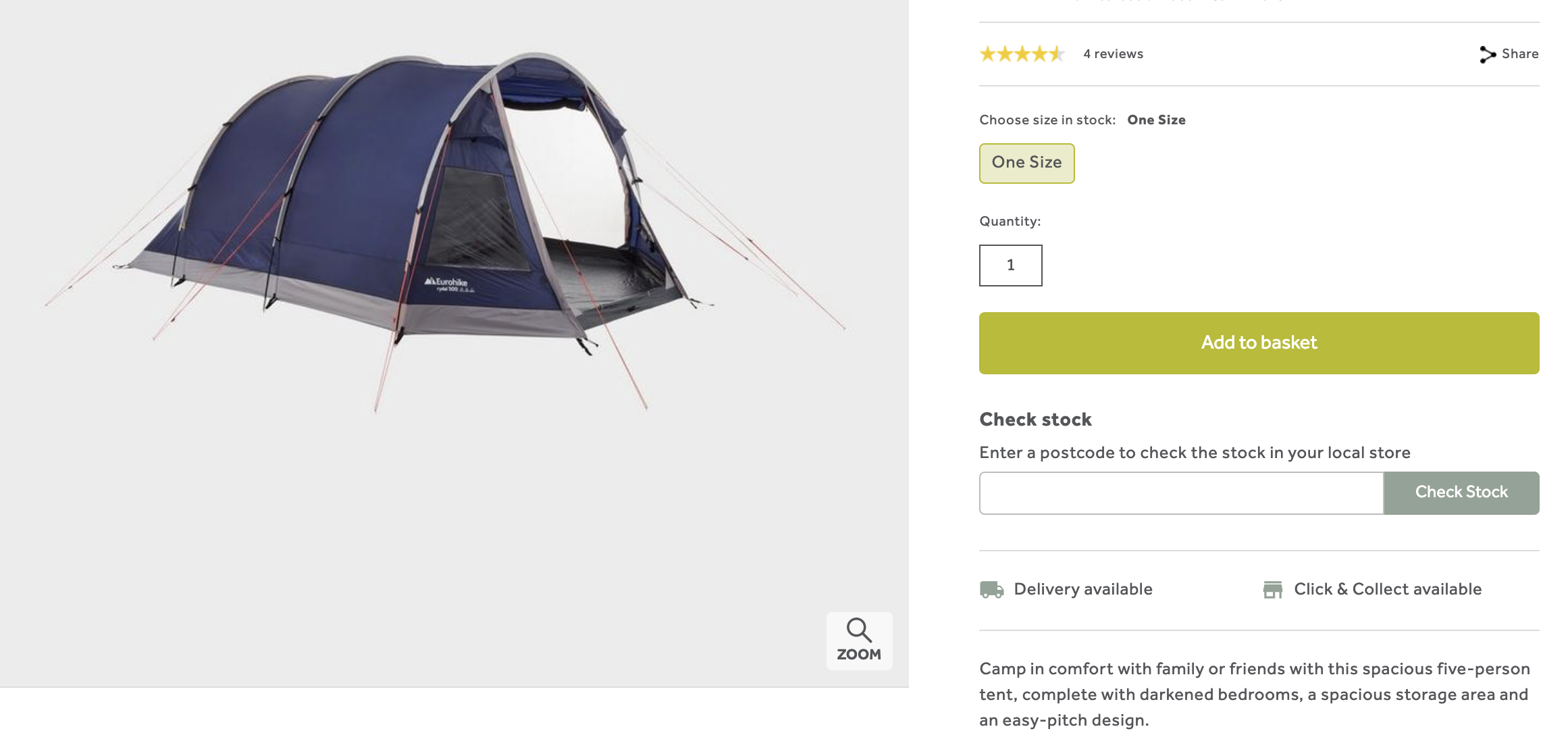 product description - tent