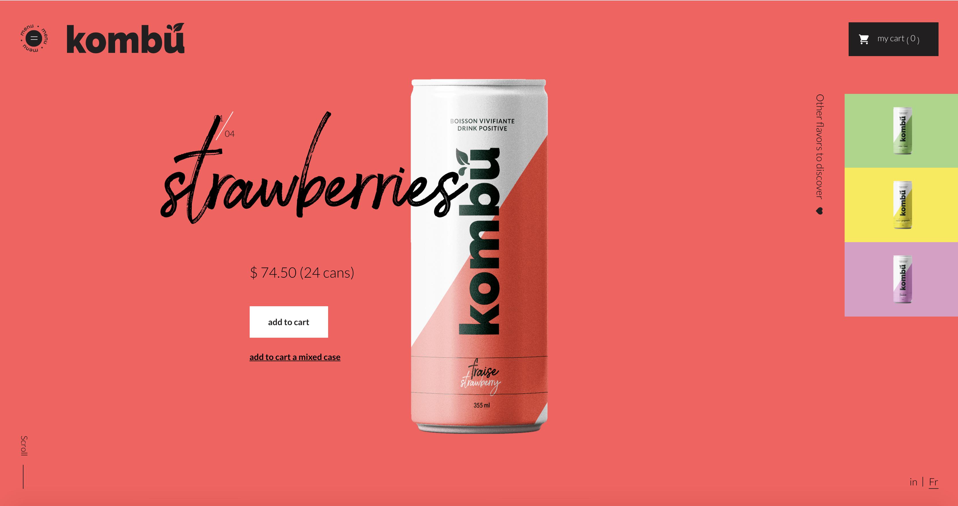 Kombu Product Page
