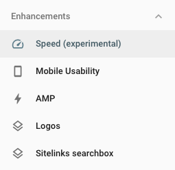 Search Console Enhancements Tab