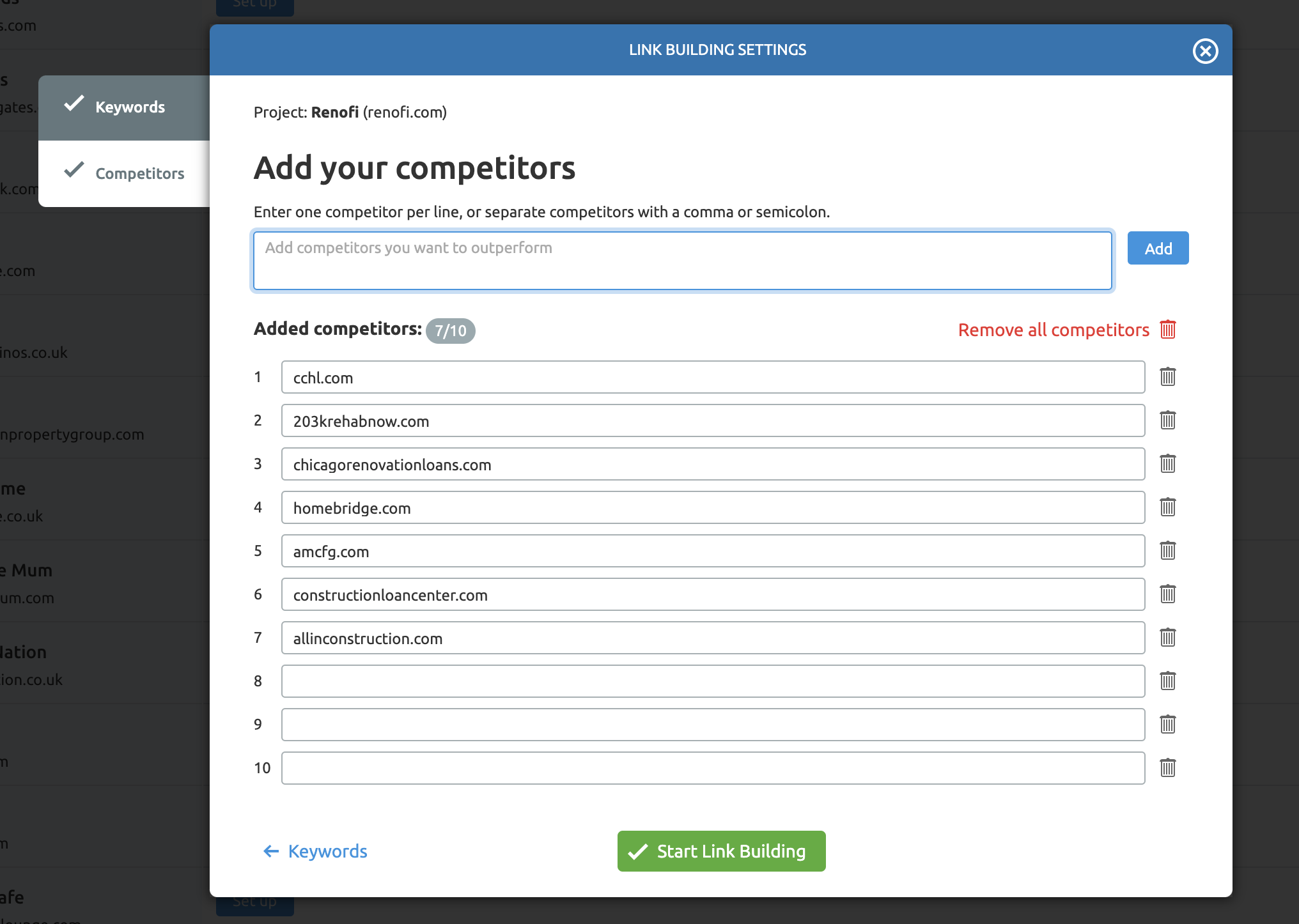 Link Building Tool Competitors