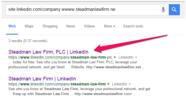 linkedin-in-google-search-bar