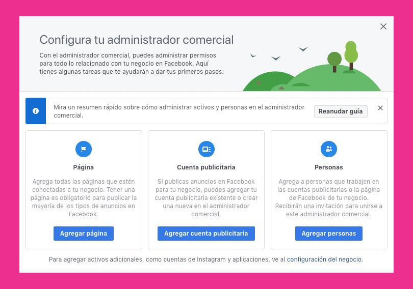 Facebook Business Manager - Configurar administrador comercial