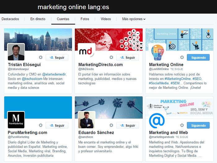 Influencers de marketing online