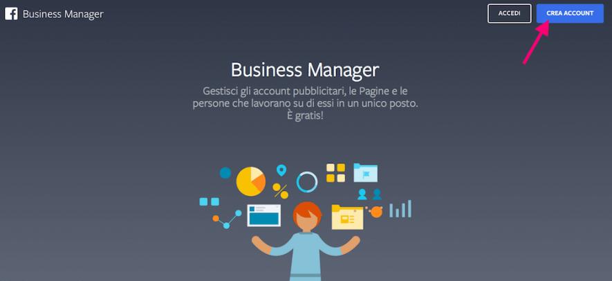 Facebook Business manager si collega alla pagina aziendale