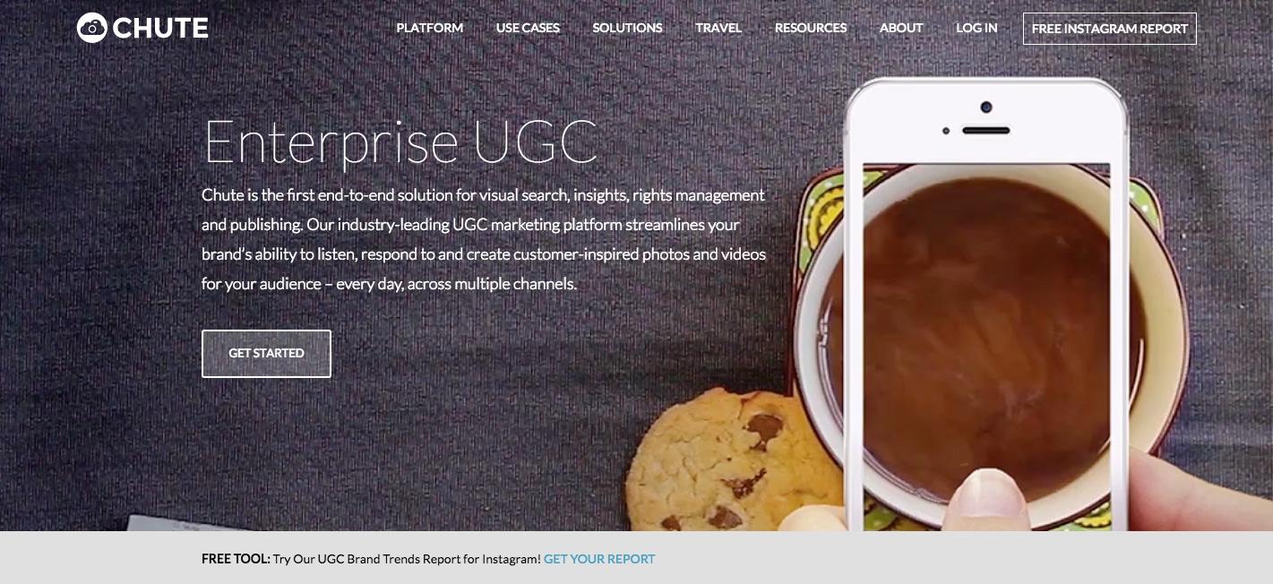 Chute app para UGC
