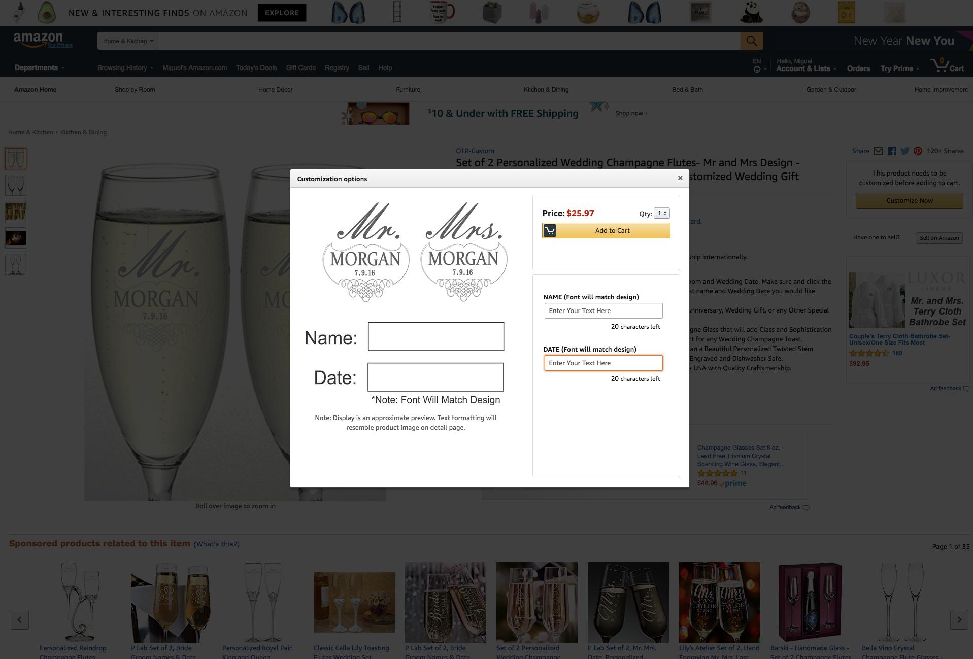 Customización y personalización online - Amazon Custom