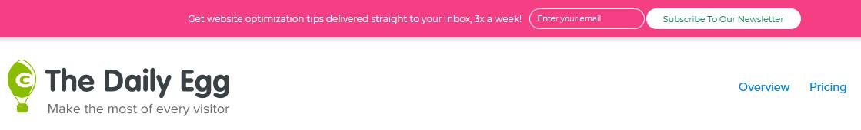 Newsletter optin bar