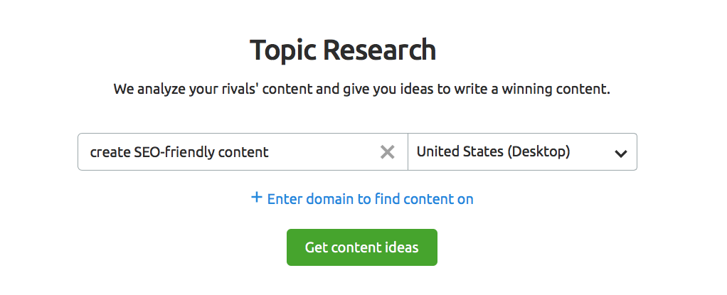 Topic Research setup
