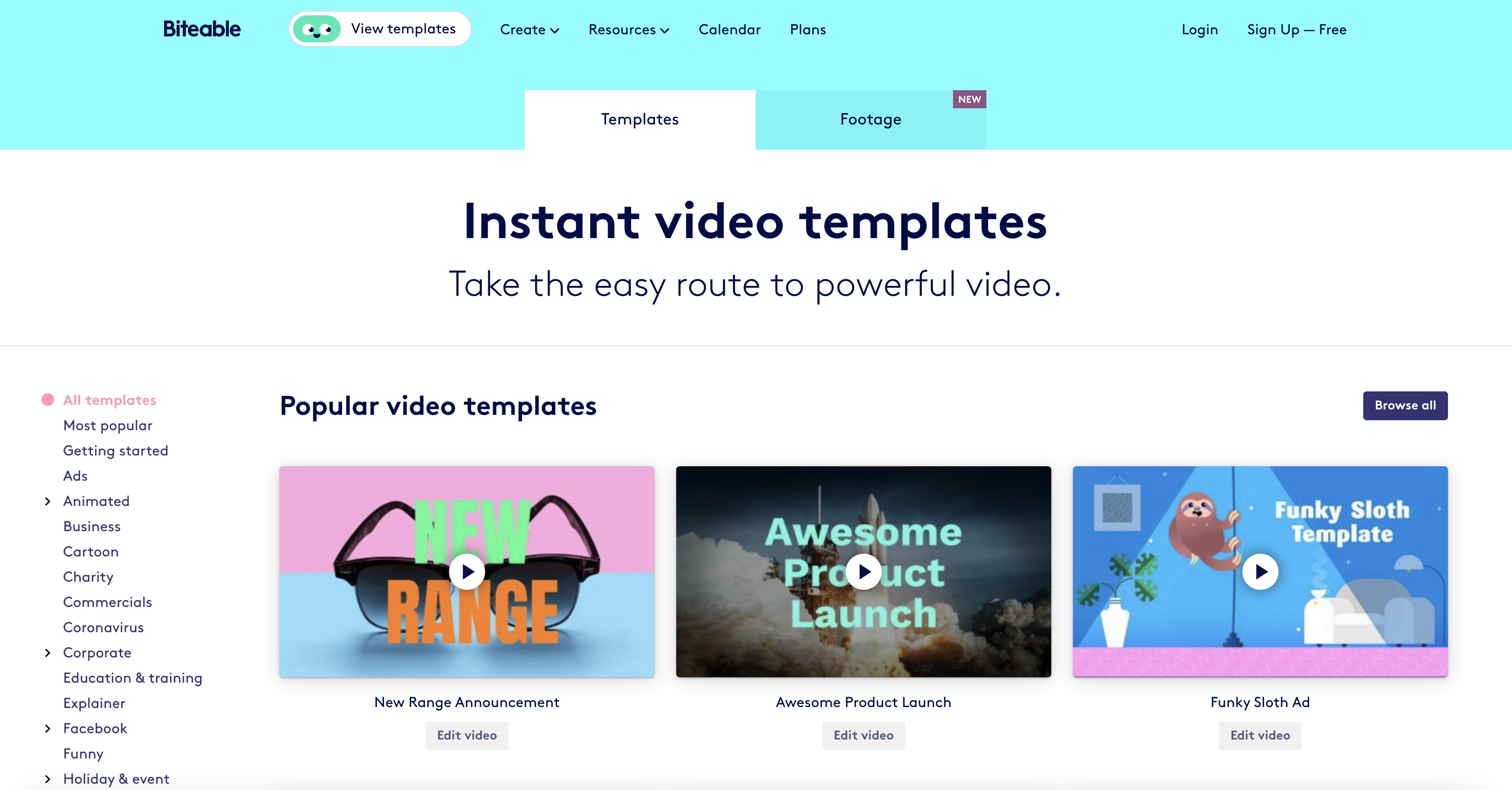 Biteable video templates screenshot