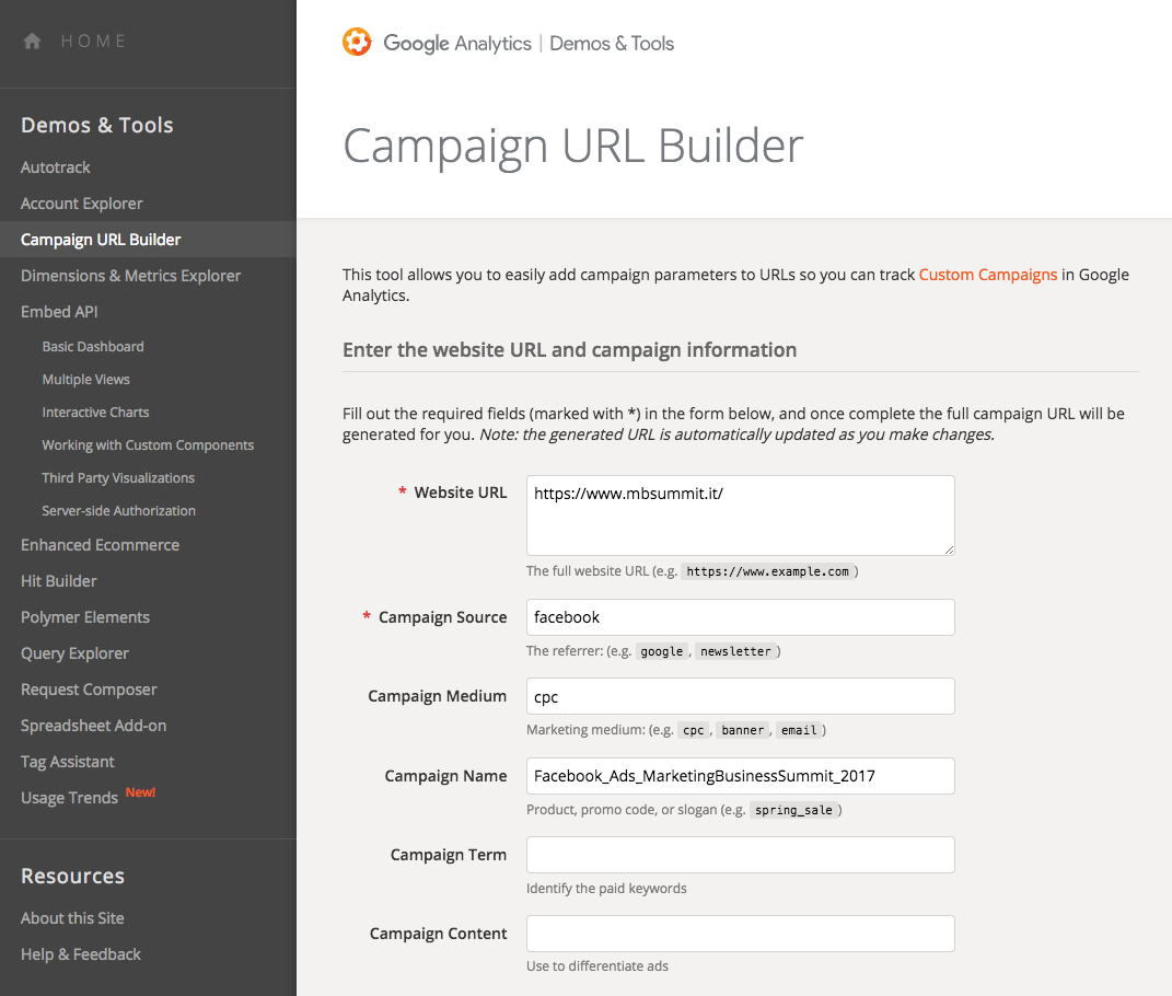 Consigli di scrittura online e web copywriting: il tool URL Builder di Google