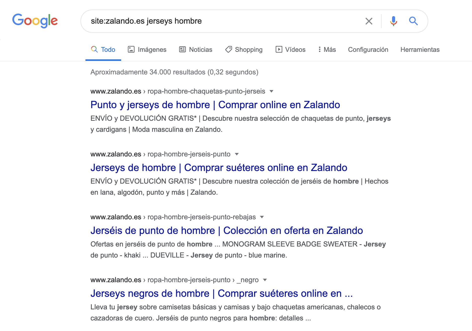 Canibalización de palabras clave - Usar Google Site Keyword