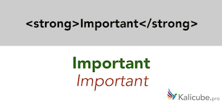 Example of semantic HTML5 tag - strong