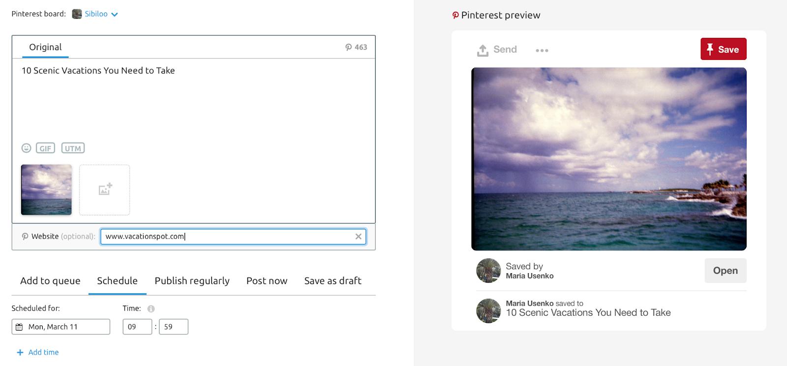 Herramientas para social media - Enlazar URLs a pines