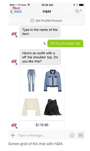 News: il chatbot sviluppato da H&M