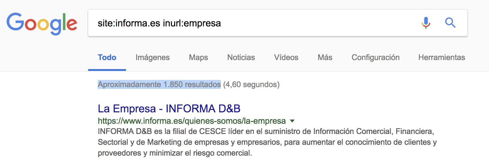 SEO para directorios - inurl:empresa