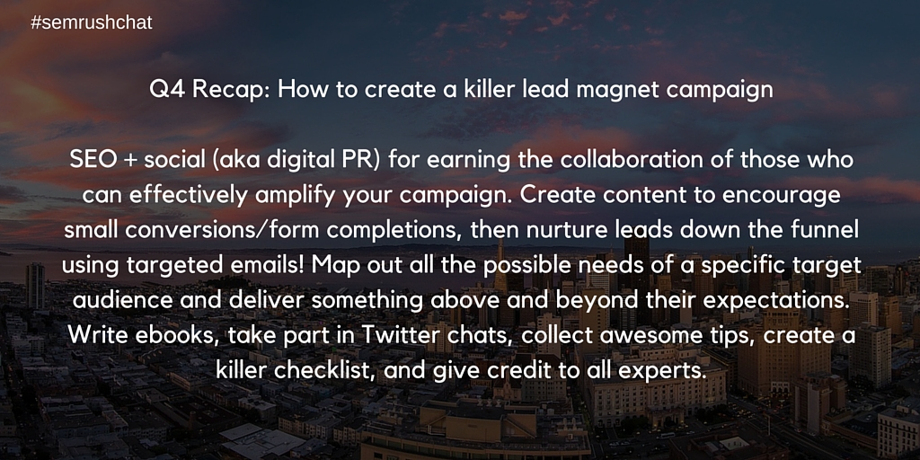 Creating a killer lead magnet campaign