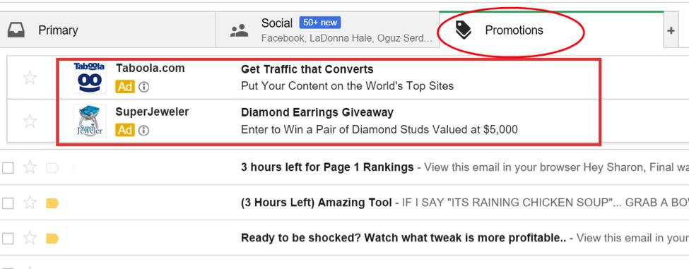 Taboola Gmail Native Advertising