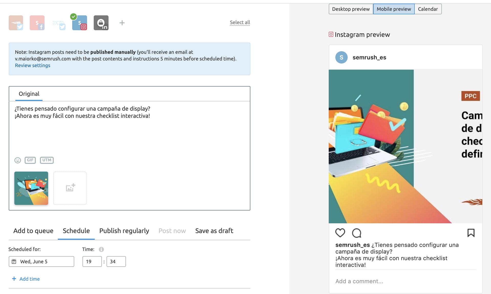 Herramientas para social media - Editor imágenes Instagram