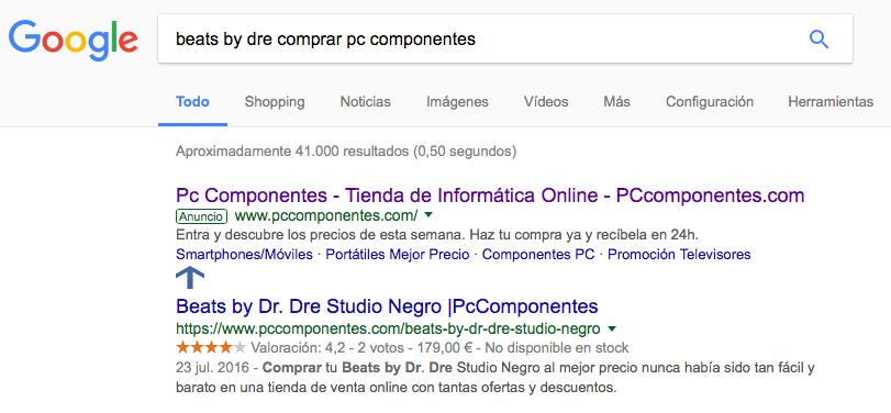 Anuncios dinámicos de búsqueda - Ejemplo granular