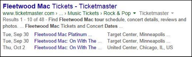 Fleetwood Mac tickets Google