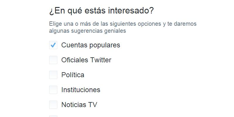 Crear cuenta Twitter - Paso 5