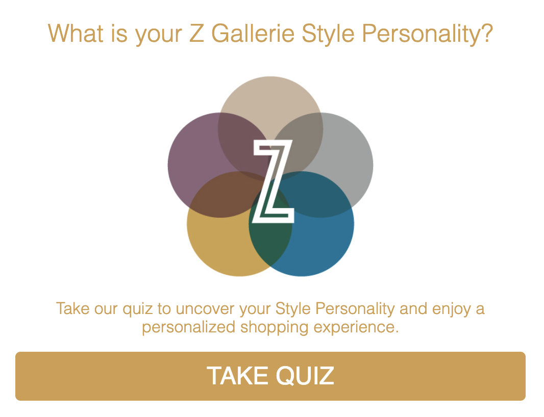 Z Gallerie Style Personality quiz