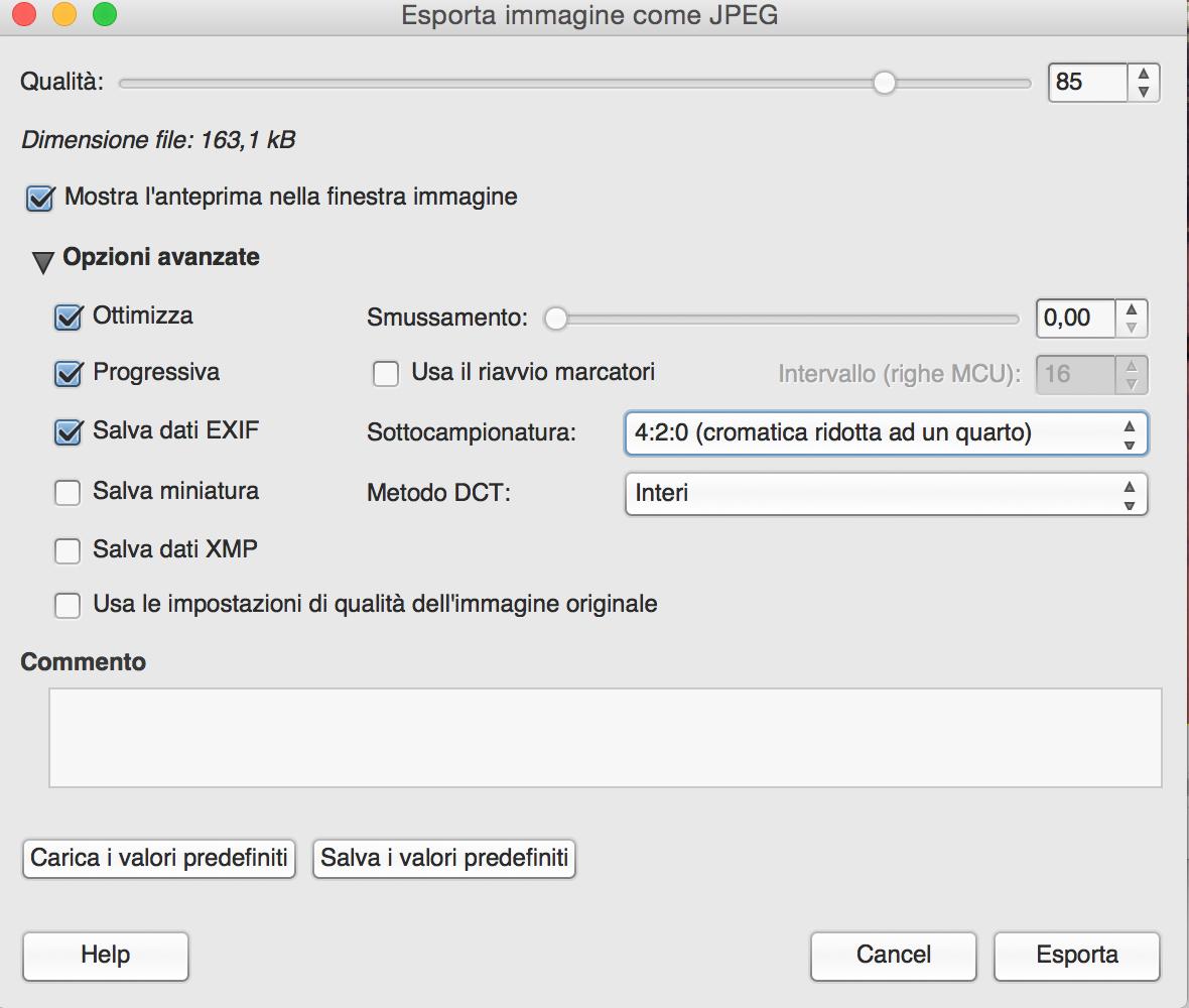 Usa le opzioni avanzate in ottica di ottimizzazione SEO per le immagini
